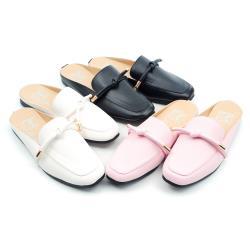 【 cher美鞋】MIT甜美簡約前包後空穆勒鞋拖鞋懶人鞋童鞋 白色/粉色/黑色 17-22碼 0940640958-04