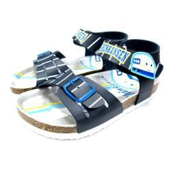 台灣製新幹線兒童涼鞋軟木鞋深藍13-19cm 7選1(95711830)【卡通小物】