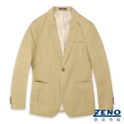 ZENO 精簡合身休閒西裝外套‧卡其