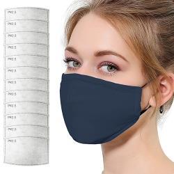活力揚邑-PM2.5防塵霾濾芯式立體棉布口罩活性碳五層濾片12入