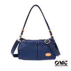 【OMC】城市小旅行側背斜背兩用隨身包(藍色)