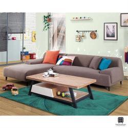 【Hampton 漢汀堡】契布曼L型布沙發-面左(沙發/休閒沙發/椅子/L型沙發)