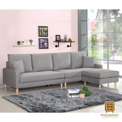 【Hampton 漢汀堡】艾維斯L型布沙發(沙發/休閒沙發/椅子/L型沙發)