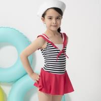 SARBIS女童連身裙泳裝附泳帽B882001