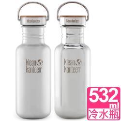 美國Klean Kanteen 竹片蓋不鏽鋼冷水瓶532ml