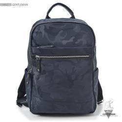 【A&L老工匠紳士館】防水多功能後背包低調Camouflage-V0281-經典藍