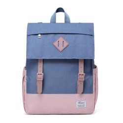 【Heine 海恩】WIN-211 休閒後背包 流行女包 後背包 旅行背包 防盜包 防潑水 多夾層 多口袋 包包 - 藍粉