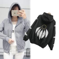 【韓國K.W. 】(預購) 氣質好衣輕薄涼感風衣防曬外套