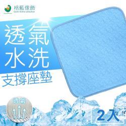 【格藍傢飾】透氣水洗支撐座墊-夏晶(2入組)