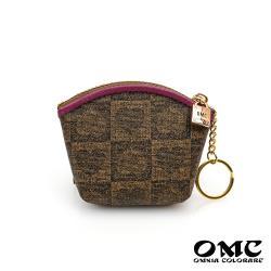 【OMC】經典棋盤圖騰小元寶鑰匙圈零錢包