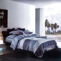 Indian 新科技天絲吸濕排汗雙人特大兩用被床包四件組-海風