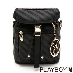 【PLAYBOY】後背包可斜背  時尚黑潮系列