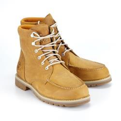 Timberland 男款小麥色全粒面皮革Moc Toe靴A2EE3231