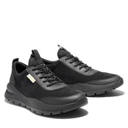 Timberland 男款黑色絨面革休閒鞋A2CAE015