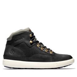 Timberland 男款黑色全粒面皮革高筒靴A2BPW001
