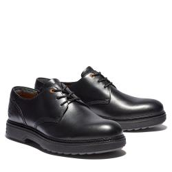 Timberland 男款黑色全粒面皮革牛津鞋A1ZDJ001
