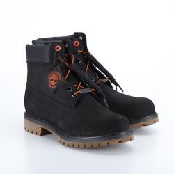 Timberland 男款黑色正絨面皮革6吋靴A1U7M001