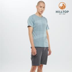 【hilltop山頂鳥】男款吸濕快乾Polygiene抗菌T恤S04MD2綠