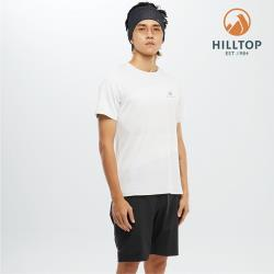 【hilltop山頂鳥】男款吸濕快乾Polygiene抗菌T恤S04MD2科技灰