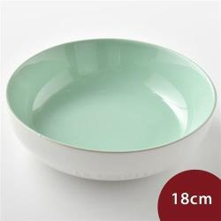 Le Creuset 花蕾系列 圓形深盤 18cm  棉花白/甜薄荷
