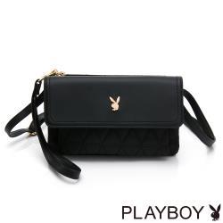 【PLAYBOY】萬用包附手挽/長背帶 金典小兔系列