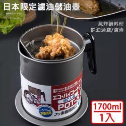 媽媽咪呀 大容量濾渣濾油壺-日本限定304不鏽鋼濾網款(1入)