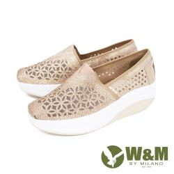 W&M(女)Bounce 亮鑽縷紗彈力厚底增高鞋 女鞋 - 金(另有黑)