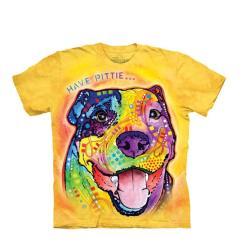 【摩達客】美國進口The Mountain 彩繪羅威納犬臉 純棉環保短袖T恤