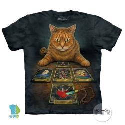 【摩達客】美國進口The Mountain 貓與塔羅牌 純棉環保短袖T恤