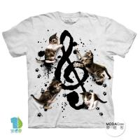 【摩達客】美國進口The Mountain 貓與音符 純棉環保短袖T恤