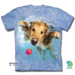 【摩達客】美國進口The Mountain 水中黃金獵犬 純棉環保短袖T恤