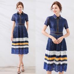 【歐風KEITH-Will 】 (預購) 歐洲站蕾絲名媛洋裝
