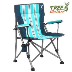 TreeWalker 鏕遊樂 特斯林涼感露營椅(湖水綠條紋)