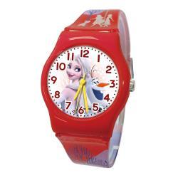 【Disney 迪士尼】冰雪奇緣2優美魔幻神秘旅程 兒童手錶-M艾莎與雪寶
