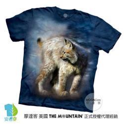 【摩達客】(大尺碼4XL)美國進口The Mountain 寂靜豹貓 純棉環保藝術中性短袖T恤