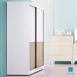 【Hampton 漢汀堡】愛妮莎系列4尺推門衣櫥(一般地區免運費/衣櫥/衣櫃)