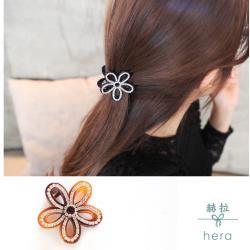 Hera 赫拉  立體鏤空花朵水鑽髮夾/抓夾-2色