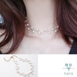 【HERA 赫拉】choker樹枝珍珠頸鍊/短項鍊(二色)