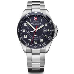 VICTORINOX 維氏 FieldForce系列 異地穿梭者 兩地時間腕錶 VISA-241895