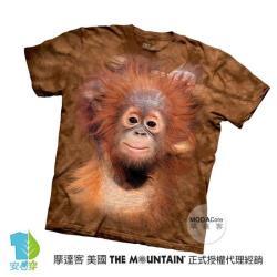 【摩達客】美國進口The Mountain 小紅毛猩猩 純棉環保藝術中性短袖T恤