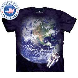 摩達客  美國進口The Mountain Smithsonian系列鳥瞰地球 純棉環保短袖T恤