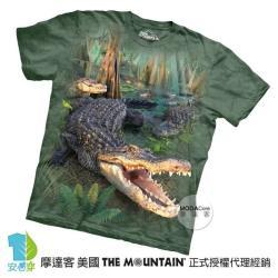 【摩達客】美國進口The Mountain 大鱷魚 純棉環保短袖T恤