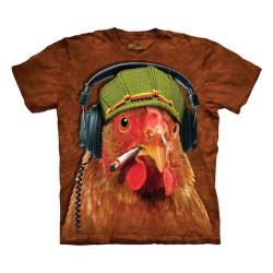 【摩達客】美國進口The Mountain DJ雞臉 純棉環保短袖T恤