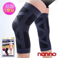 【non-no 儂儂】台灣製360°圓筒彈力護膝-2入(超值3盒組)
