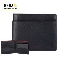 【MONDAINE 瑞士國鐵】蘇黎世系列RFID防盜 8卡零錢包短夾(十字紋)