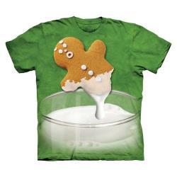 【摩達客】美國進口The Mountain 牛奶薑餅人 純棉環保短袖T恤