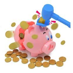 粉紅爆炸豬遊戲 爆炸豬存錢筒桌遊