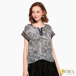 MONS頂級雙層縐100%蠶絲涼感上衣