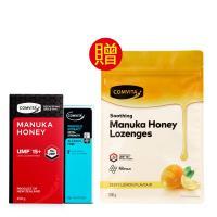 COMVITA康維他 UMF15+麥蘆卡蜂蜜250g*1+PFL30蜂膠萃取精華液25ml*1 送 檸檬蜂膠麥蘆卡蜂蜜潤喉糖500g*1