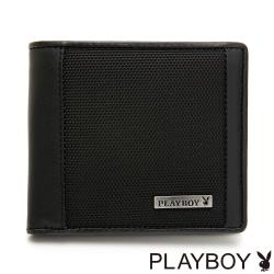 PLAYBOY- 中翻短夾 Action系列 -黑色